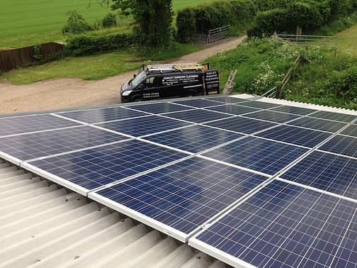 Solar panel cleaning in Hampshire